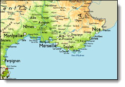 South France Map