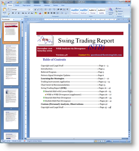 Swing Trading Report Table of Contents